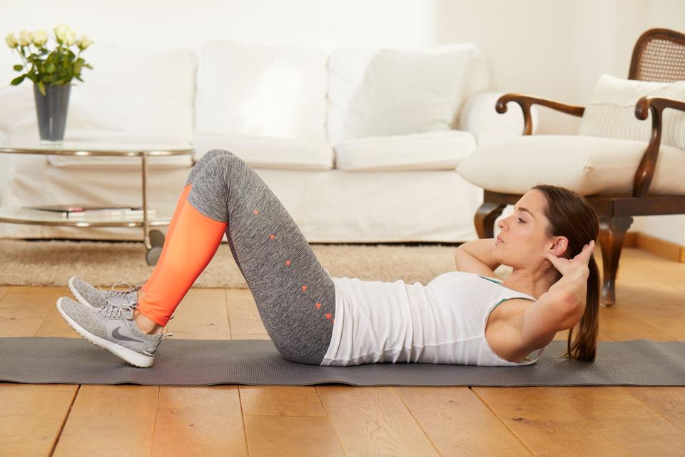 Mit Crunches zu starken Bauchmuskeln